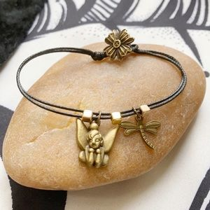 Fairy magic🧚♀️ Dragonfly Button flower  Bracelet